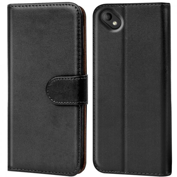 Safers Basic Wallet für Wiko Sunny 2 Plus Hülle Bookstyle Klapphülle Handy Schutz Tasche