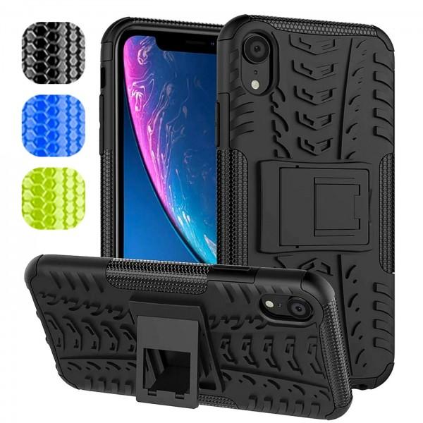 Safers Outdoor Hülle für Apple iPhone XR Case Hybrid Armor Cover Schutzhülle