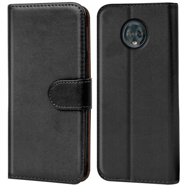 Safers Basic Wallet für Motorola Moto G6 Hülle Bookstyle Klapphülle Handy Schutz Tasche