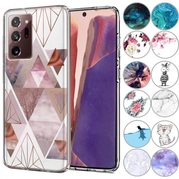 Safers IMD Case für Samsung Galaxy Note 20 Ultra Hülle Silikon Case mit Muster Schutzhülle