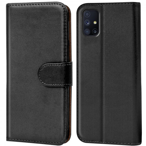Safers Basic Wallet für Samsung Galaxy M31s Hülle Bookstyle Klapphülle Handy Schutz Tasche