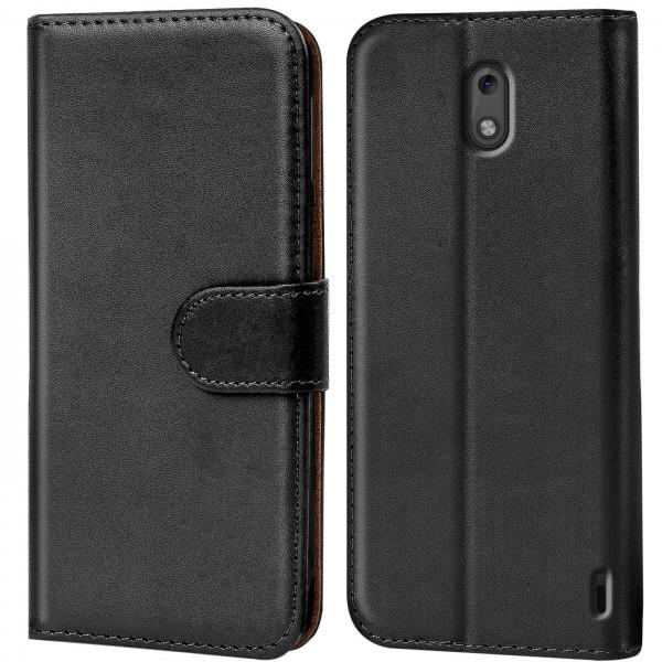 Safers Basic Wallet für Nokia 2 Hülle Bookstyle Klapphülle Handy Schutz Tasche