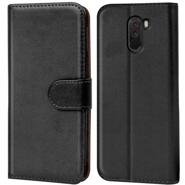 Safers Basic Wallet für Xiaomi Pocophone F1 Hülle Bookstyle Klapphülle Handy Schutz Tasche
