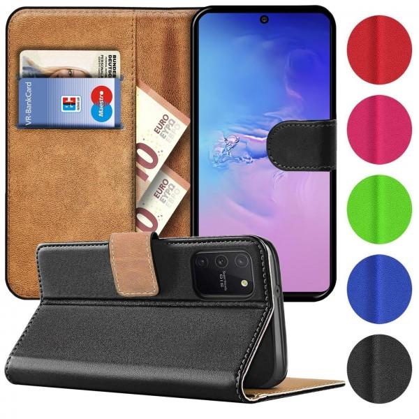 Safers Basic Wallet für Samsung Galaxy S10 Lite Hülle Bookstyle Klapphülle Handy Schutz Tasche