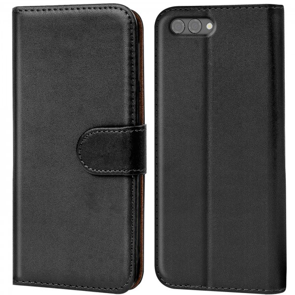 Safers Basic Wallet für Honor View 10 Hülle Bookstyle Klapphülle Handy Schutz Tasche