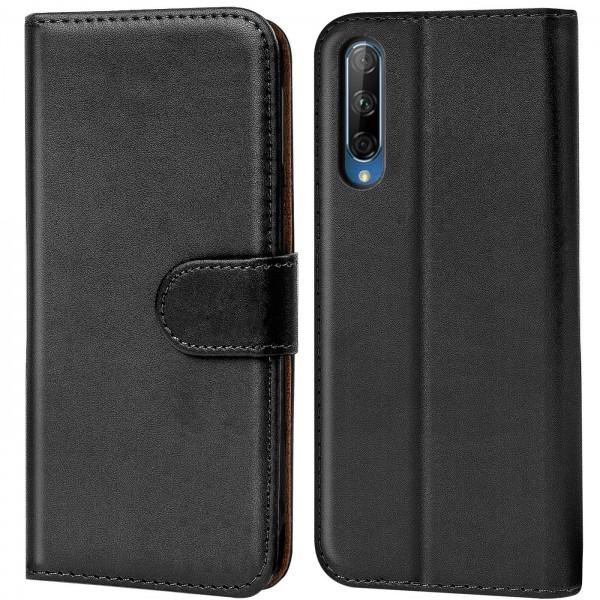 Safers Basic Wallet für Huawei P Smart Pro Hülle Bookstyle Klapphülle Handy Schutz Tasche