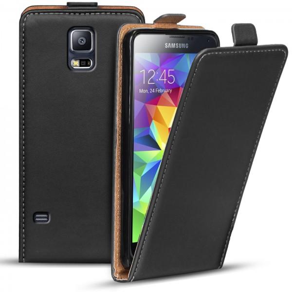 Safers Flipcase für Samsung Galaxy S5 Hülle Klapphülle Cover klassische Handy Schutzhülle