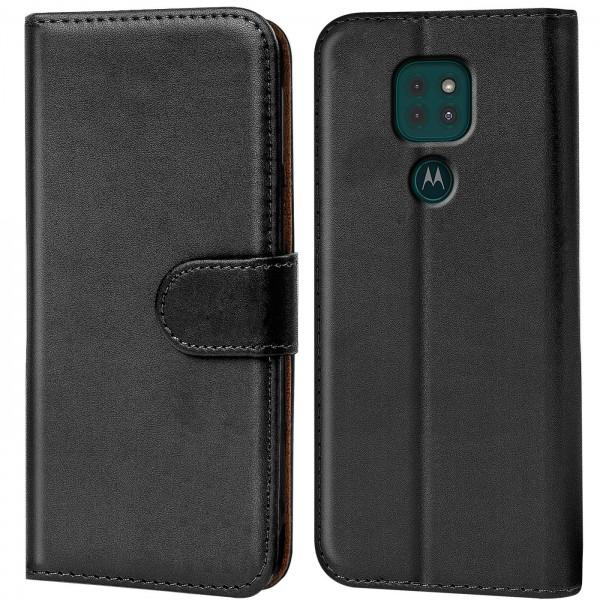 Safers Basic Wallet für Motorola Moto G9 Play Hülle Bookstyle Klapphülle Handy Schutz Tasche