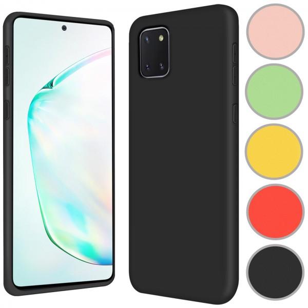 Safers Color TPU für Samsung Galaxy Note 10 Lite Hülle Soft Silikon Case mit innenliegendem Stoffbez