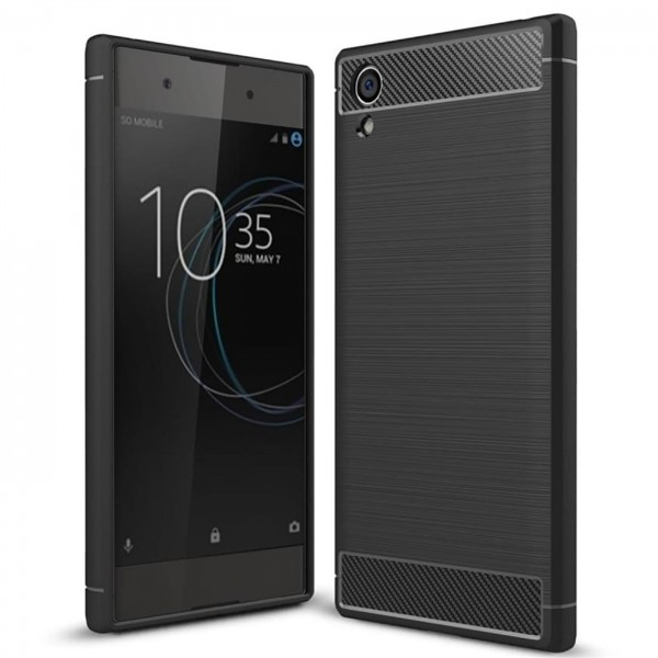 Safers Carbon Hülle für Sony Xperia XA1 Schutzhülle Handy Case Cover