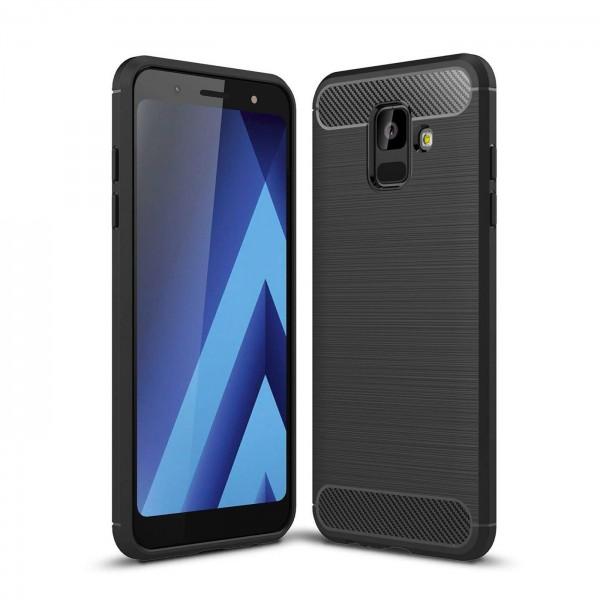 Safers Carbon Hülle für Samsung Galaxy A8 2018 Schutzhülle Handy Case Cover