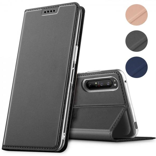 Safers Electro Flip für Sony Xperia 1 II Hülle Magnet Case Handy Tasche Klapphülle