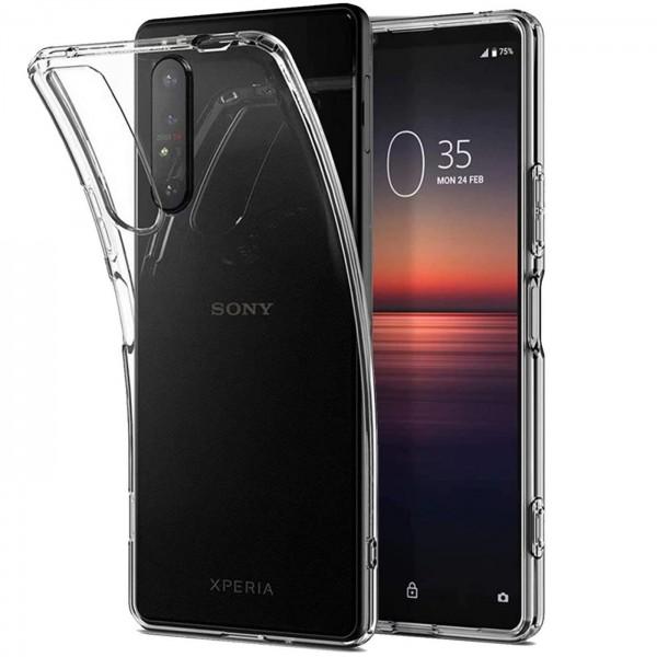 Safers Zero Case für Sony Xperia 1 II Hülle Transparent Slim Cover Clear Schutzhülle