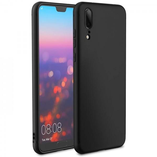 Safers Classic TPU für Huawei P20 Schutzhülle Hülle Schwarz Handy Case