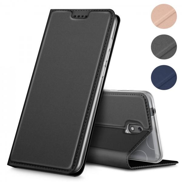 Safers Electro Flip für Nokia 1 Hülle Magnet Case Handy Tasche Klapphülle