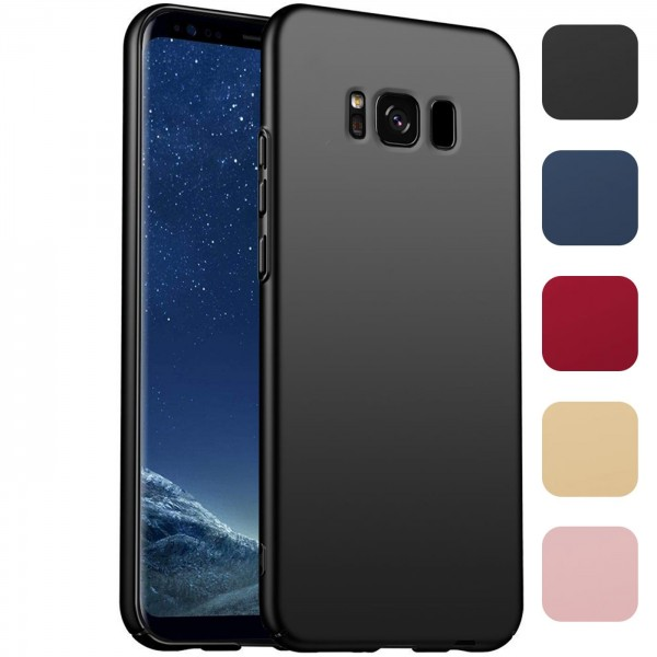 Safers Classic Plain für Samsung Galaxy S8 Plus Hülle Slim Cover Matt Schutzhülle