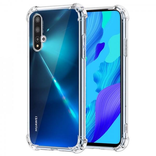 Safers Rugged TPU für Huawei Nova 5T Schutzhülle Anti Shock Handy Case Transparent Cover