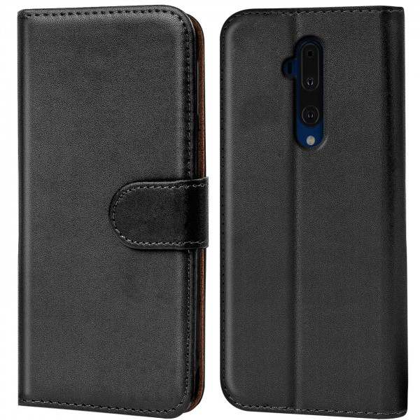 Safers Basic Wallet für OnePlus 7T Pro Hülle Bookstyle Klapphülle Handy Schutz Tasche