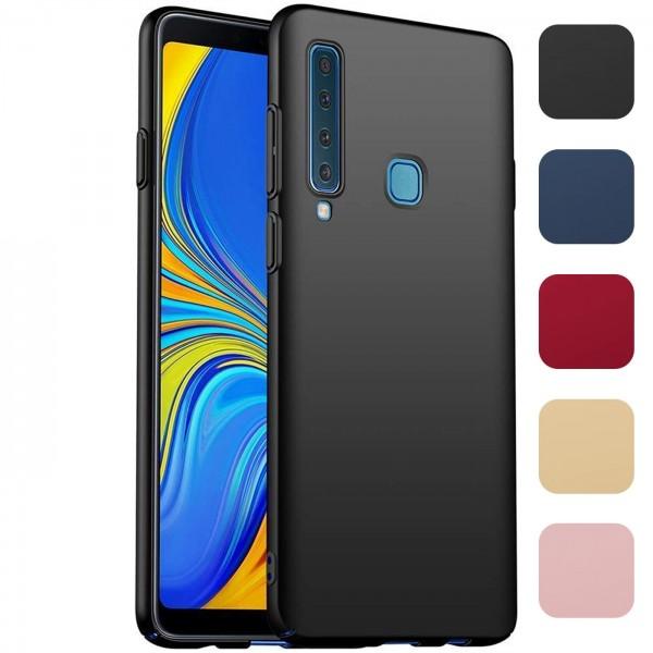Safers Classic Plain für Samsung Galaxy A9 2018 Hülle Slim Cover Matt Schutzhülle