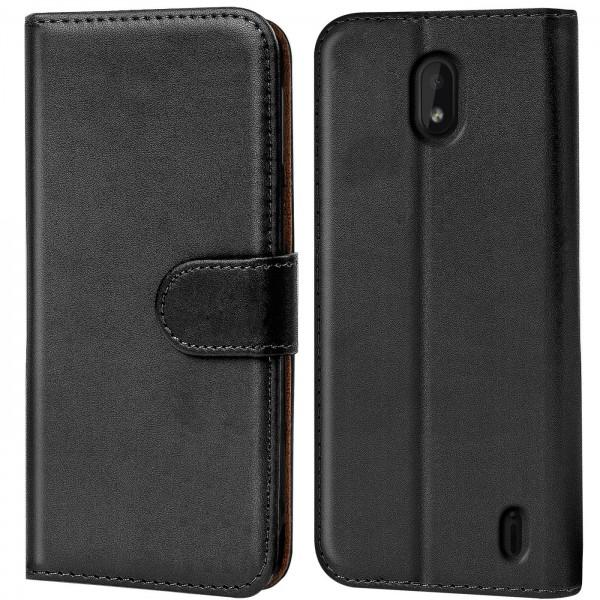 Safers Basic Wallet für Nokia 1 Plus Hülle Bookstyle Klapphülle Handy Schutz Tasche