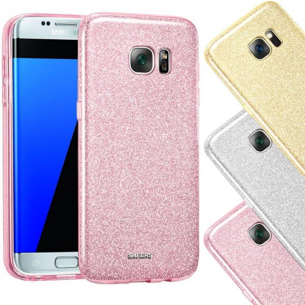 Safers Shiny für Samsung Galaxy S7 Edge Hülle Glitzer Cover TPU Schutzhülle