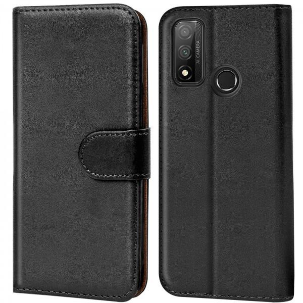 Safers Basic Wallet für Huawei P Smart 2020 Hülle Bookstyle Klapphülle Handy Schutz Tasche