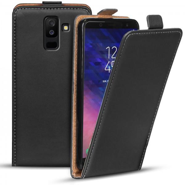 Safers Flipcase für Samsung Galaxy A6 Plus Hülle Klapphülle Cover klassische Handy Schutzhülle