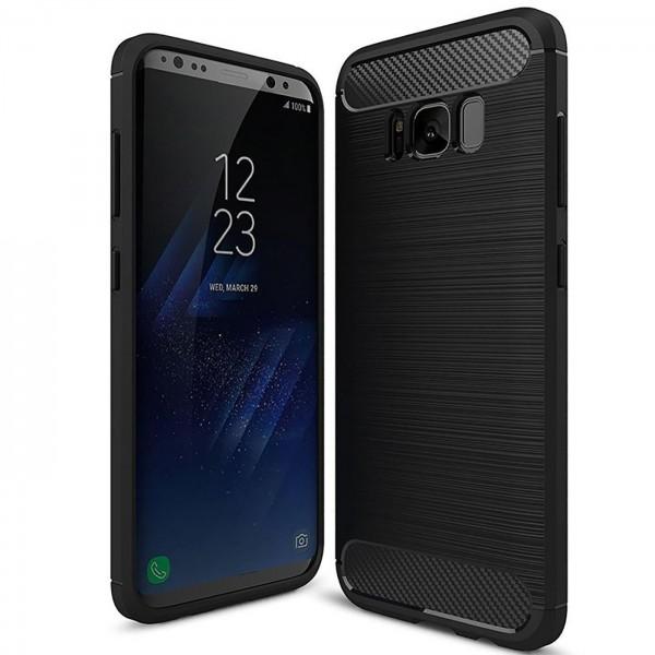 Safers Carbon Hülle für Samsung Galaxy S8 Schutzhülle Handy Case Cover