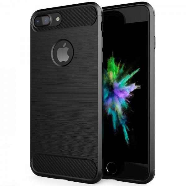 Safers Carbon Hülle für Apple iPhone 7 Plus / 8 Plus Schutzhülle Handy Case
