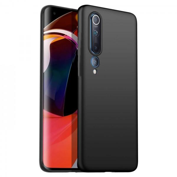 Safers Classic TPU für Xiaomi Mi 10 Schutzhülle Hülle Schwarz Handy Case