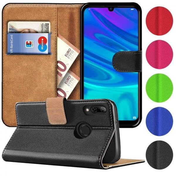 Safers Basic Wallet für Huawei P Smart 2019 Hülle Bookstyle Klapphülle Handy Schutz Tasche