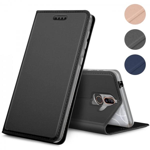 Safers Electro Flip für Nokia 8.1 Hülle Magnet Case Handy Tasche Klapphülle