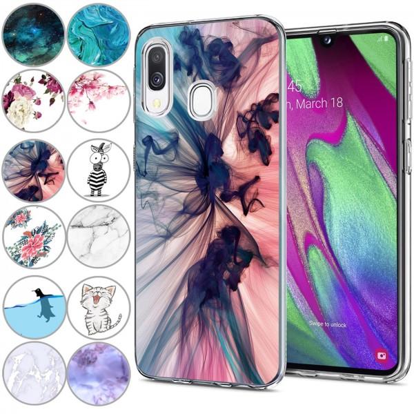 Safers IMD Case für Samsung Galaxy A40 Hülle Silikon Case mit Muster Schutzhülle