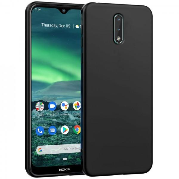 Safers Classic TPU für Nokia 2.3 Schutzhülle Hülle Schwarz Handy Case