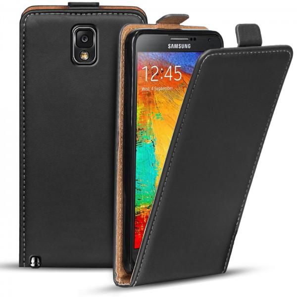 Safers Flipcase für Samsung Galaxy Note 3 Hülle Klapphülle Cover klassische Handy Schutzhülle