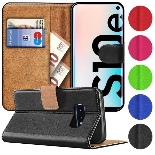 Safers Basic Wallet für Samsung Galaxy S10e Hülle Bookstyle Klapphülle Handy Schutz Tasche