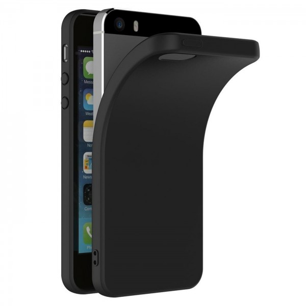 Safers Classic TPU für Apple iPhone 5 5S SE Schutzhülle Hülle Schwarz Handy Case