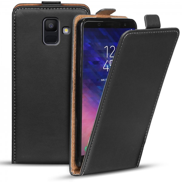 Safers Flipcase für Samsung Galaxy A6 Hülle Klapphülle Cover klassische Handy Schutzhülle