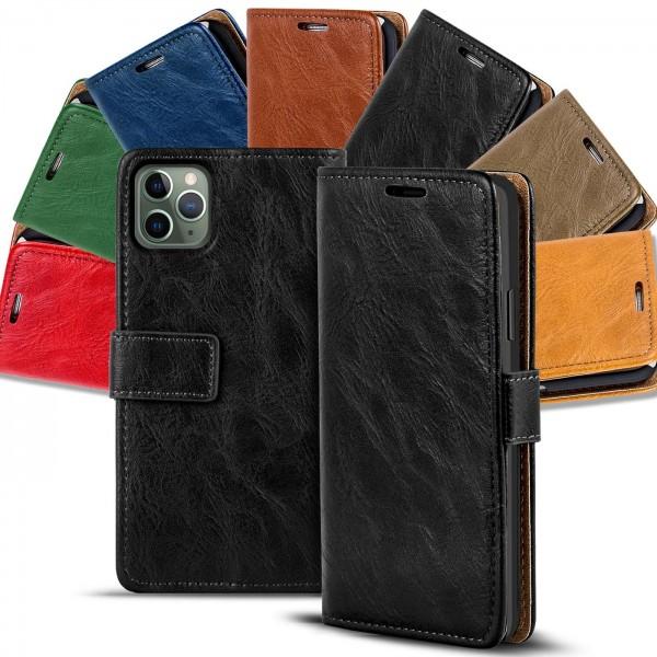 Safers Retro Tasche für iPhone 11 Pro Max Hülle Wallet Case Handyhülle Vintage Slim Cover