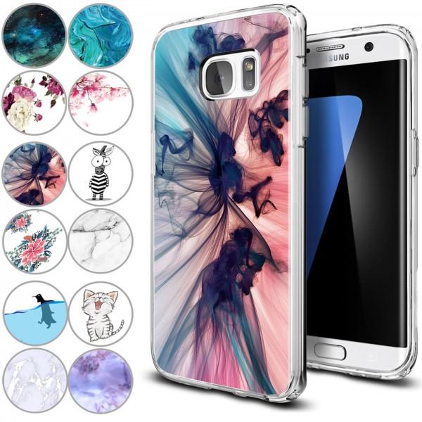 Safers IMD Case für Samsung Galaxy S7 Hülle Silikon Case mit Muster Schutzhülle