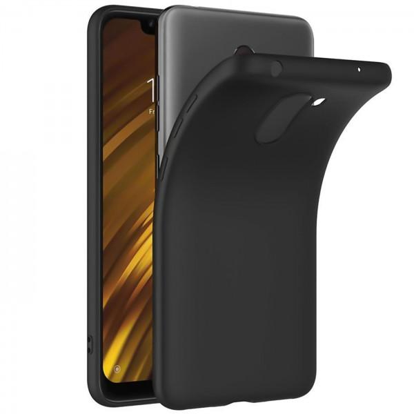 Safers Classic TPU für Xiaomi Pocophone F1 Schutzhülle Hülle Schwarz Handy Case