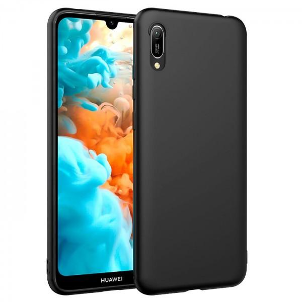Safers Classic TPU für Huawei Y6 2019 Schutzhülle Hülle Schwarz Handy Case