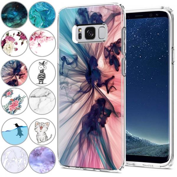 Safers IMD Case für Samsung Galaxy S8 Hülle Silikon Case mit Muster Schutzhülle