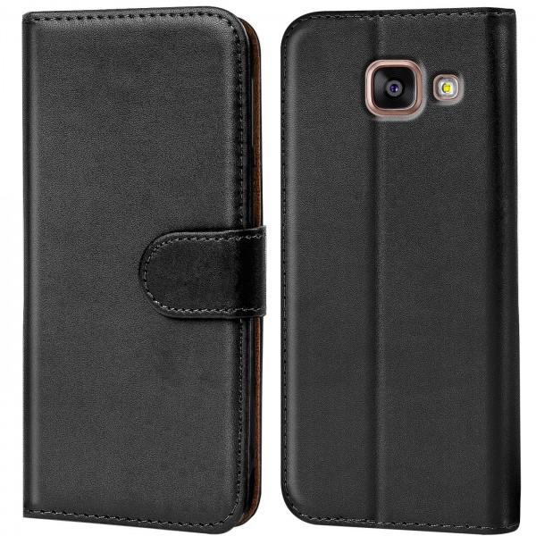 Safers Basic Wallet für Samsung Galaxy A3 2016 Hülle Bookstyle Klapphülle Handy Schutz Tasche