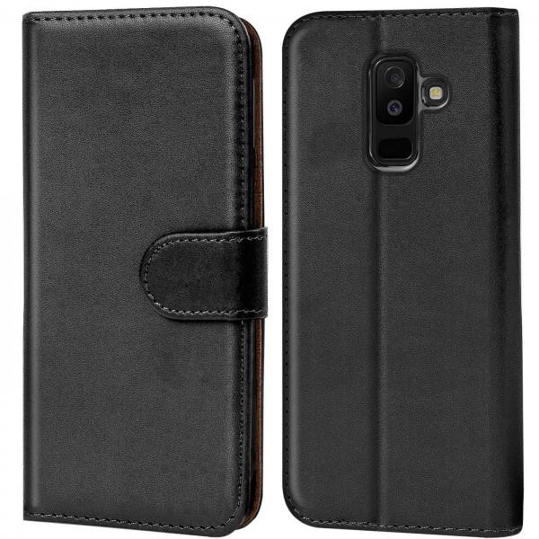 Safers Basic Wallet für Samsung Galaxy A6 Plus Hülle Bookstyle Klapphülle Handy Schutz Tasche