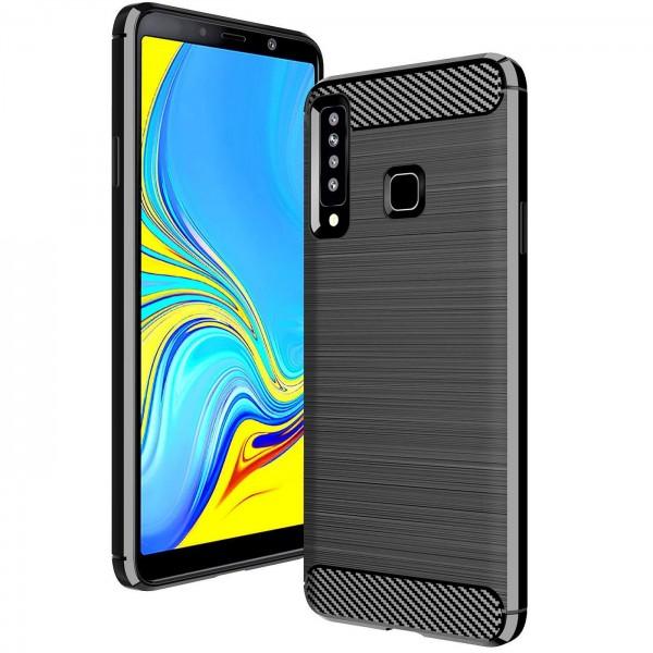 Safers Carbon Hülle für Samsung Galaxy A9 2018 Schutzhülle Handy Case Cover