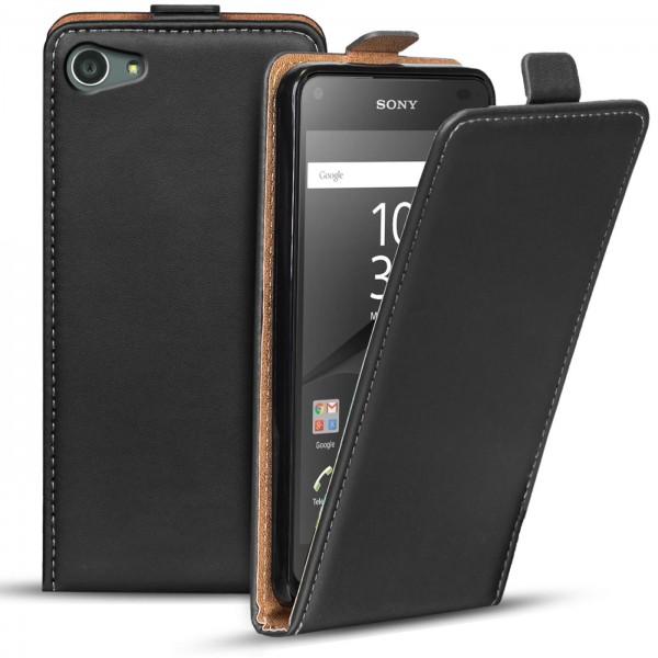 Safers Flipcase für Sony Xperia Z5 Compact Hülle Klapphülle Cover klassische Handy Schutzhülle
