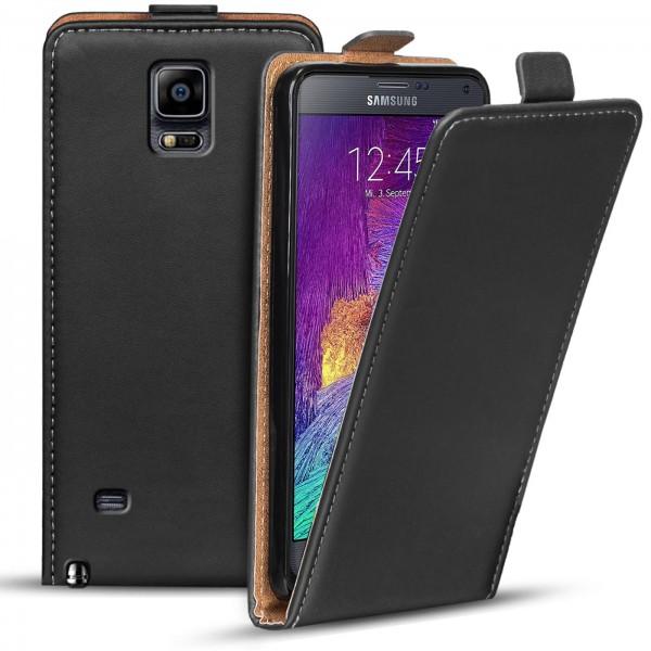 Safers Flipcase für Samsung Galaxy Note 4 Hülle Klapphülle Cover klassische Handy Schutzhülle