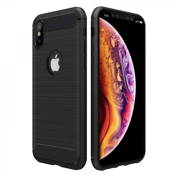 Safers Carbon Hülle für Apple iPhone X / XS Schutzhülle Handy Case Cover