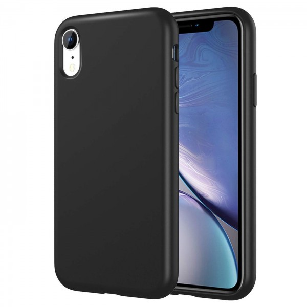 Safers Classic TPU für Apple iPhone XR Schutzhülle Hülle Schwarz Handy Case
